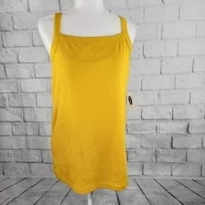 Old Navy - square neck yellow mustard